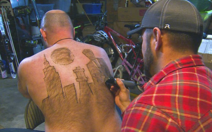 Idaho man finds art in back hair